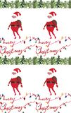 Akwareli Bożenarodzeniowych ilustracji bezszwowy wzór z Santa klauzula i Wesoło boże narodzenia kopiujemy Zima nowego roku temat ilustracja wektor