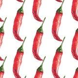 Akwareli chili wzór ilustracji