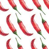 Akwareli chili wzór ilustracja wektor