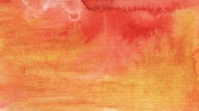 Akwareli czerwie? i pomara?czowy jaskrawy abstrakcjonistyczny t?o obraz royalty free