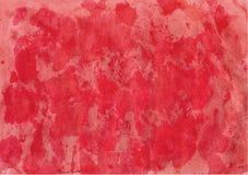 Akwareli czerwony tło Fotografia Royalty Free