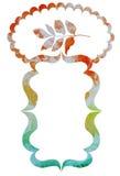 Akwareli dekoracyjna rama z liśćmi i miejsce dla teksta vecto ilustracja wektor
