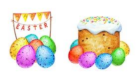 Akwareli Easter dekoracyjni elementy Obrazy Royalty Free