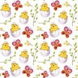 Akwareli Easter wzór ilustracja wektor