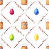 Akwareli Easter wzór Obrazy Stock