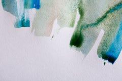 Akwareli farby muśnięcia uderzenia na papierowej teksturze royalty ilustracja