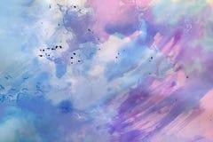 Akwareli farby tło Zdjęcie Royalty Free
