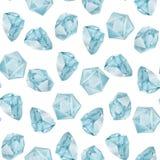 Akwareli gemstones bezszwowy wzór Fotografia Stock