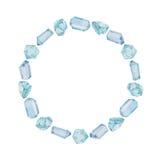 Akwareli gemstones round rama Obraz Royalty Free