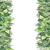 Akwareli greenery kolekcja R?ka malowa? pionowo t?o szablon w ekologicznym stylu ilustracji