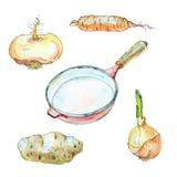 Akwareli ilustraci kucharstwo Fotografia Stock