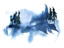 Akwareli ilustracja odizolowywająca na białym tle Obraz Royalty Free