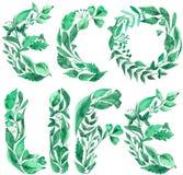 Akwareli ilustracja zwrota ECO życie robić zieleni liście ilustracja wektor