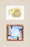 Akwareli ilustracje Zwierzęcy tematy Zdjęcia Royalty Free