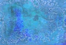 Akwareli jaskrawa ręka malujący tło Handmade starzejąca się papierowa tekstura Grunge narzuta dla kart, zaproszenia, sieć, odzież Obrazy Stock