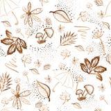 Akwareli jesieni brown wzór Royalty Ilustracja