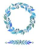 Akwareli kolekcja dekoracyjni elementy, abstraktów liście i jagody, ilustracji