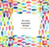 Akwareli kolorowy abstrakcjonistyczny tło Zdjęcia Royalty Free