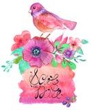 Akwareli kolorowy abstrakcjonistyczny tło Zdjęcie Royalty Free