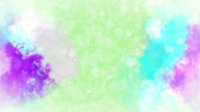 Akwareli kolorowy splatter pochodzenie tusz abstrakcyjne R?ka rysuj?cy akwareli t?o P?tli cg animacja royalty ilustracja