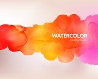 Akwareli kolorowy tło również zwrócić corel ilustracji wektora Wodny, mokry papier, Krople, plama, farba kleks royalty ilustracja