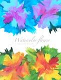 Akwareli kwiat malujący tło Obraz Royalty Free