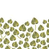 Akwareli lelui kwiatu liścia wzór Zdjęcia Stock