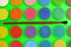 Akwareli lub watercolour paleta Zdjęcie Royalty Free