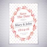 Akwareli ślubna karta Zdjęcie Royalty Free