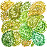 Akwareli Mehndi henny Zentangle Doodle Etniczni elementy Illustr ilustracji