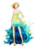 Akwareli mody ilustracja, ręka malująca ilustracji