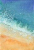 Akwareli morza plaża ilustracja wektor
