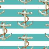 Akwareli morza wzór Zdjęcie Stock