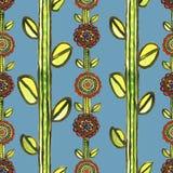 Akwareli mozaiki bezszwowy kwiecisty wzór Zdjęcie Stock