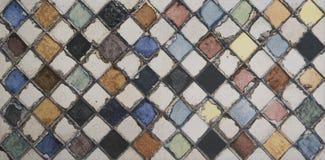 Akwareli mozaiki płytka fotografia stock