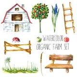 Akwareli organicznie gospodarstwo rolne Obraz Royalty Free