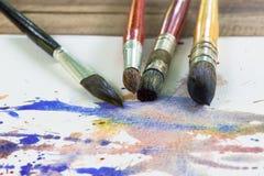Akwareli paintbrush Zdjęcie Stock
