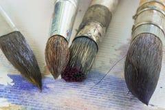 Akwareli paintbrush Zdjęcia Royalty Free
