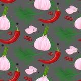 Akwareli pikantność bezszwowy wzór Ręka rysująca karmowa tekstura z rosemar ilustracji