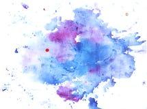 Akwareli plamy i farb plamy ilustracyjne ilustracji