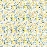 Akwareli pomarańcze zieleni błękita wzór ilustracja wektor