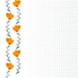 Akwareli pomarańcze kwiaty Zdjęcia Stock