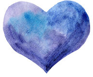 Akwareli purpurowe serce Fotografia Stock