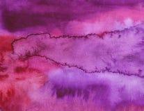 Akwareli purpurowy jaskrawy abstrakcjonistyczny tło obrazy stock