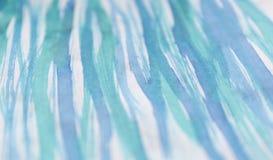 Akwareli ręka rysująca błękitna tekstura Sztuki tło z miękkim plama skutkiem Fotografia Royalty Free