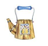 Akwareli ręka rysujący bajecznie teapot Obraz Royalty Free