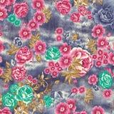 Akwareli raster kwiatu wzór na teksturze ilustracja wektor