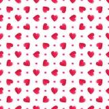 Akwareli serc czerwony wzór 1866 opierały się Karol Darwin ewolucyjnego wizerunku tree bezszwowego wektora royalty ilustracja