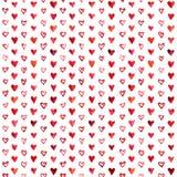 Akwareli serc wzór Zdjęcie Stock