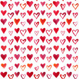 Akwareli serc wzór Zdjęcie Royalty Free